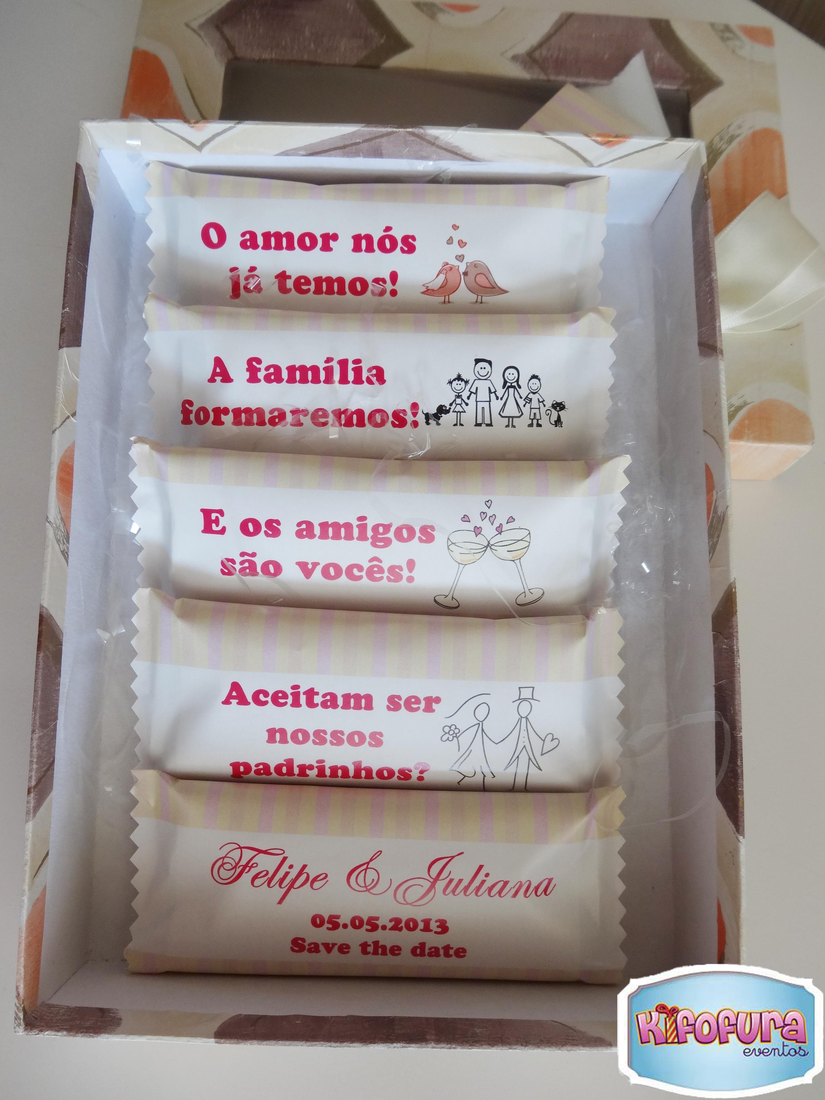 Lembrancinhas E Convites Para Padrinhos De Casamento
